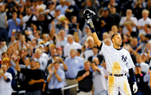 Derek Jeter became the all-time Yankee hits leader on Friday night