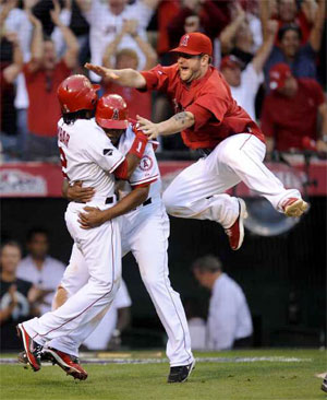 The Angels won game three of ALCS