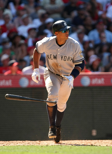 Alex Rodriguez has five homers off Jered Weaver