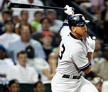 Alex Rodriguez smacked a solo homer in the seventh inning of game three