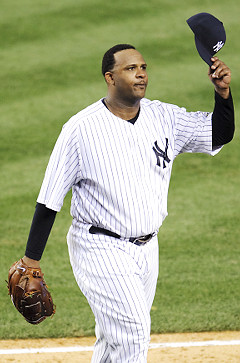 CC Sabathia struck out eight Twins in game one