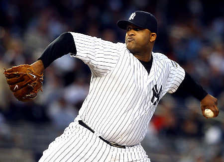 CC Sabathia will pitch on three days rest for the first time since 2008