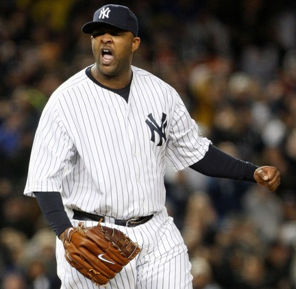 CC Sabathia tossed eight strong innings in game one of the ALCS
