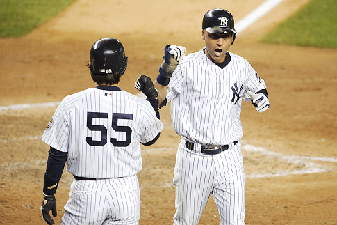 Derek Jeter and Hideki Matsui both homered in game one