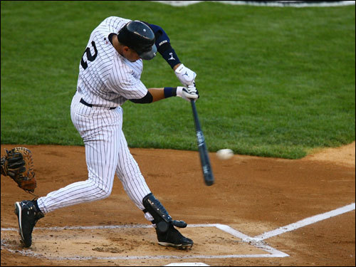 Derek Jeter hit his 19th career postseason home run on Saturday night