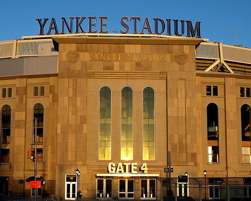 Are the Gods shining down on the new Yankee Stadium...?