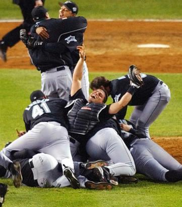 The Marlins beat the Yankees in 6 games in the 2003 World Series