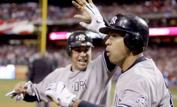 Alex Rodriguez was hit by yet another pitch, but he got revenge in the 9th inning