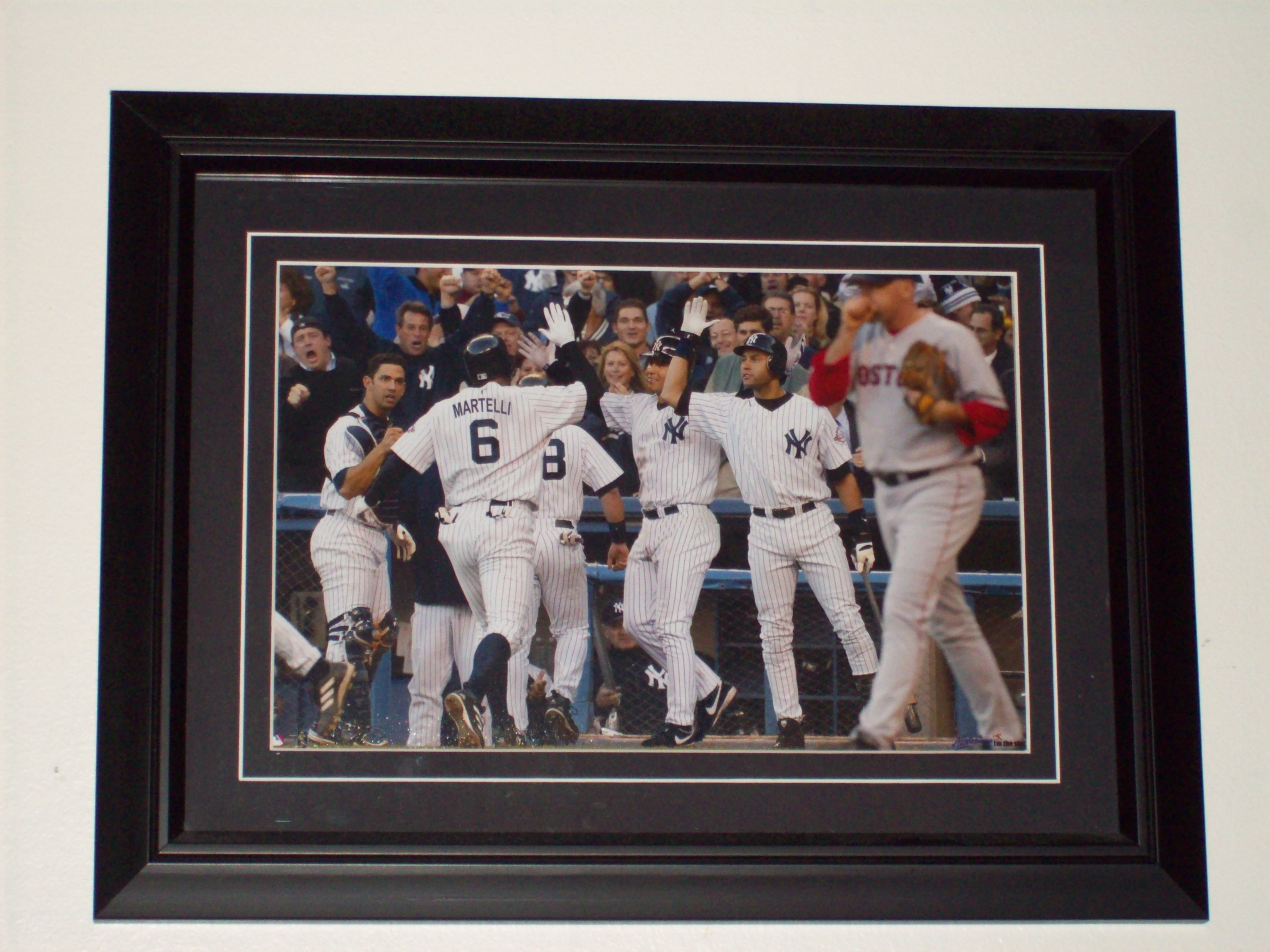 My personalized Yankee photo, one of my birthday gifts in 2007