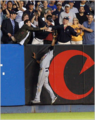 Gomez robbed Miguel Cairo of a homer that would have changed the game