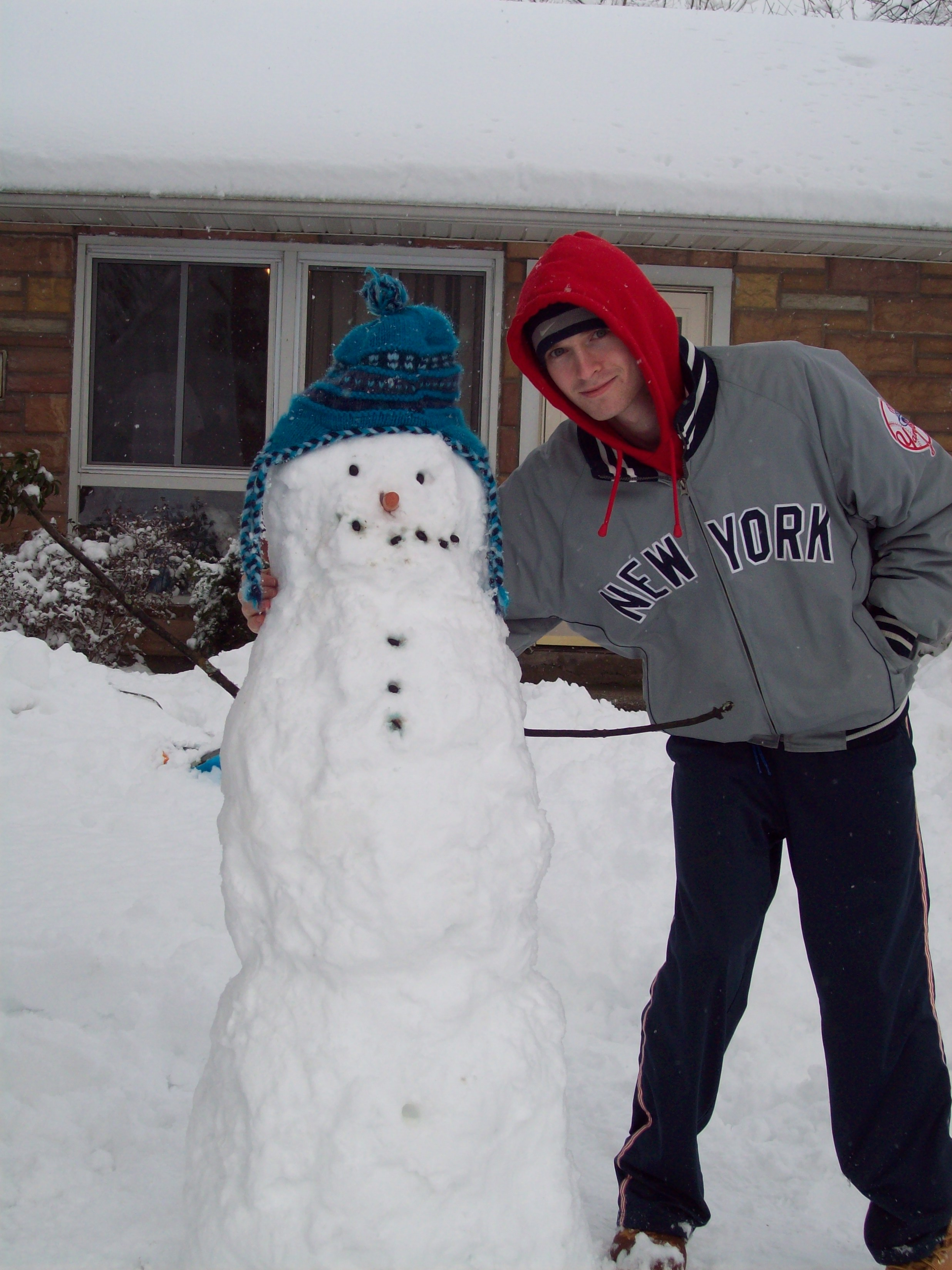 Me and the snowman...I'm wearing the jacket both me and Spike Lee own