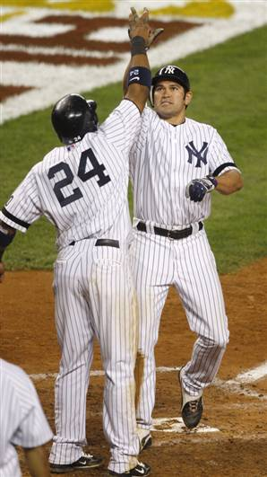Johnny kept the Yanks alive with a homer in the '07 ALDS