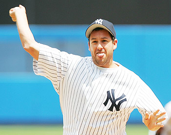 Adam Sandler is a true Yankee fan!