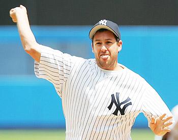 Adam Sandler is a true Yankee fan!