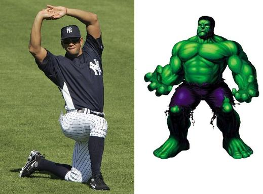 A-Rod's the Hulk!