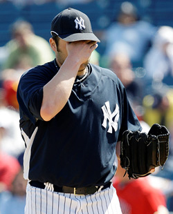 Getting over the flu, Joba Chamberlain had nothing this afternoon