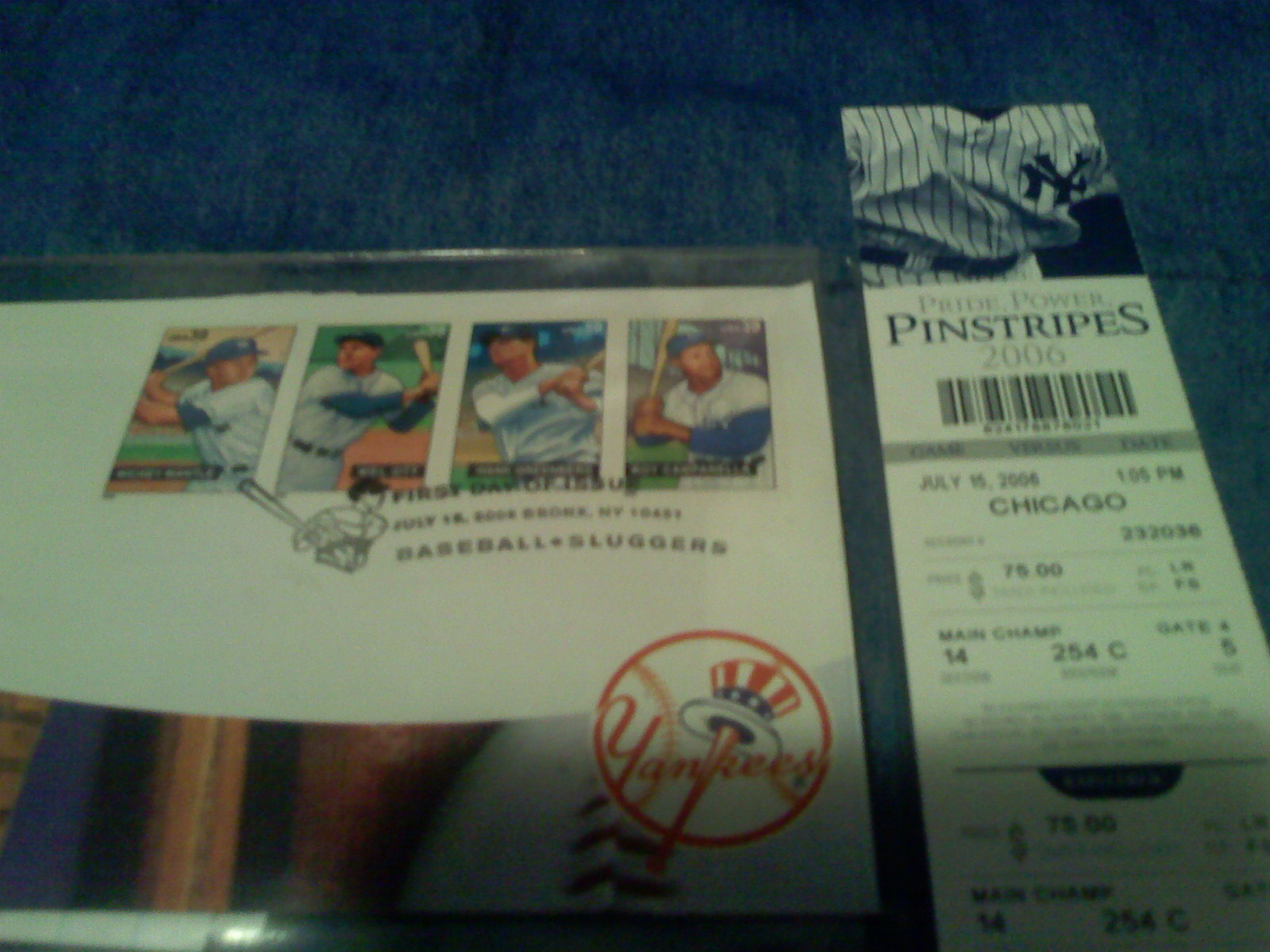 These were the stadium giveaway stamps we received.