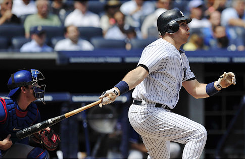 Mark Teixeira hit a homer on Sunday