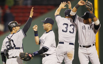The Yankees picked up their first win this year on Tuesday night