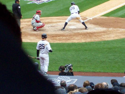 NJ homered for the Yankees' first run