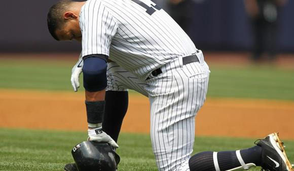 A-Rod was upset that he hit Huff in the head.