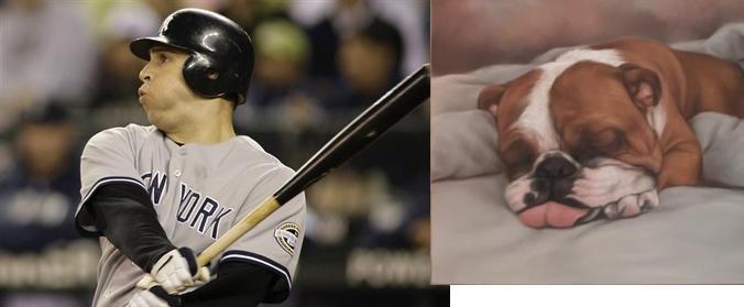 Tex was a sleeping bull dog...Boston woke him up