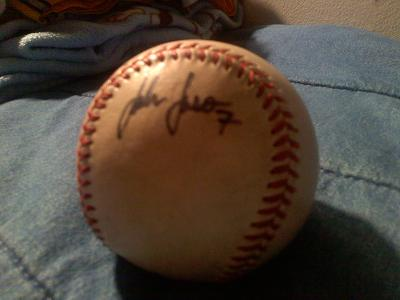 John Jaso signed my ball as a member of the HV Renegades