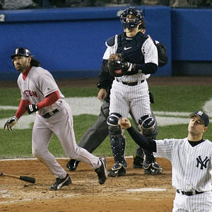 Vazquez picthed in the Yankees' losing effort in the 2004 ALCS