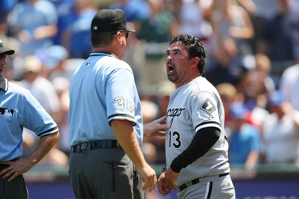 Ozzie Guillen got tossed today!