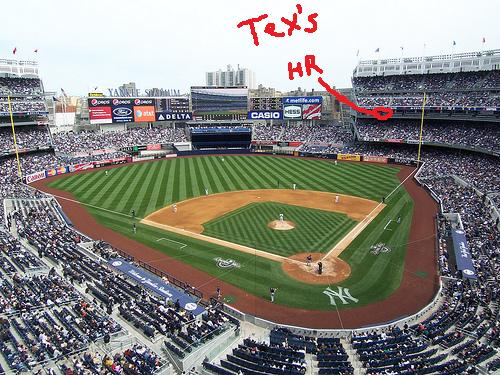 This is where Tex's homer landed