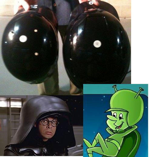 Does his helmet look like Gazoo's or Dark Helmet's...?