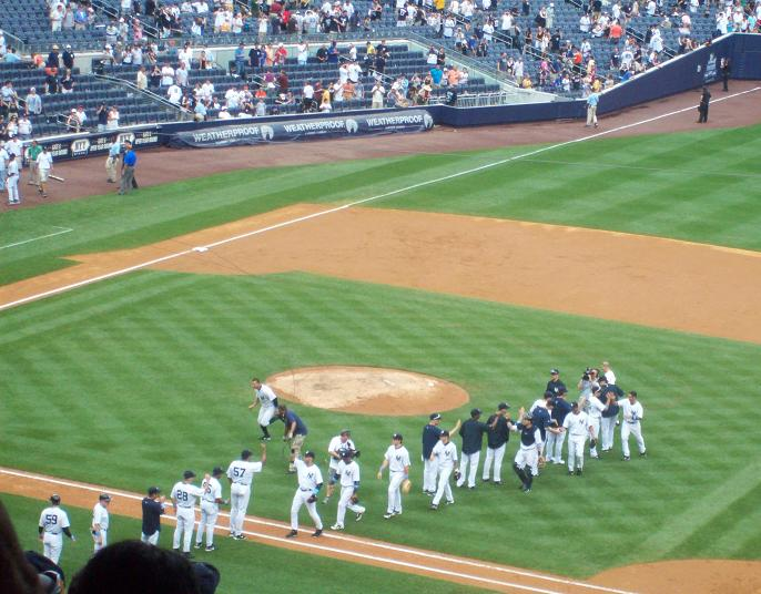 Yanks taking congrats. Never gets old.