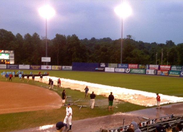 I helped pull that tarp!