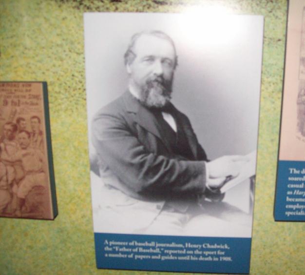 Henry Chadwick--baseball writer/pioner.