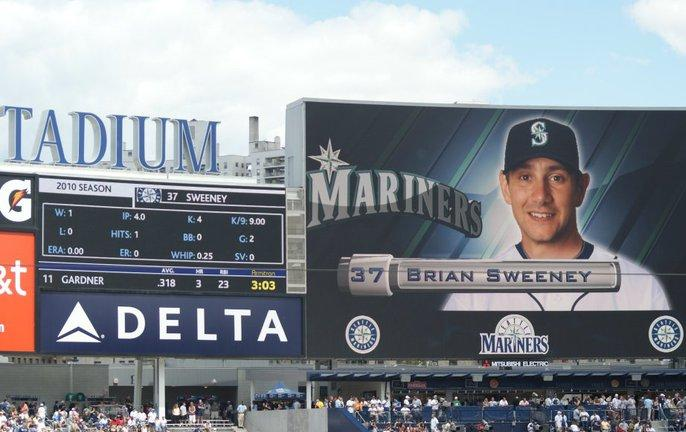 On July 1, Brian pitched against Derek Jeter at Yankee Stadium