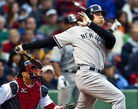 Teixeira blasted three homers vs. Boston on May 8