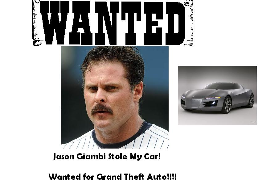 He stole my cousin's car.