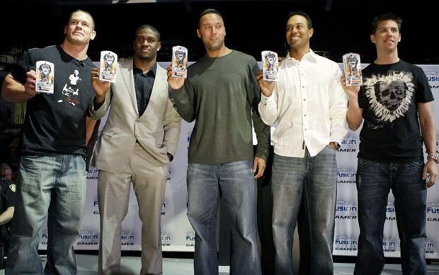 Derek Jeter teamed up with John Cena and other for Gillette's Fusion Razor product launch