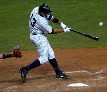 A-Rod tied the game in the ninth w/ a 2R HR