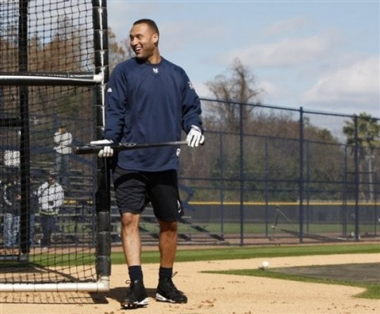 Derek Jeter is adjusting his stride