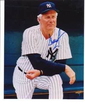 Christina;s grandpa is Dallas Green, a former Yankee skipper