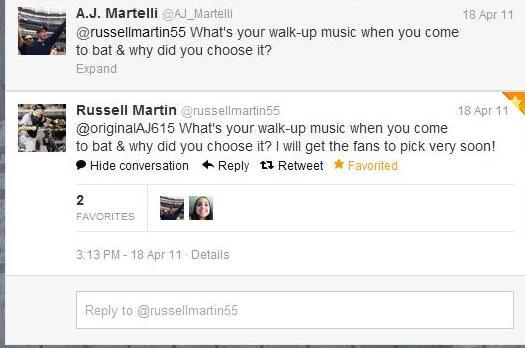RussellMartinTweetTwo