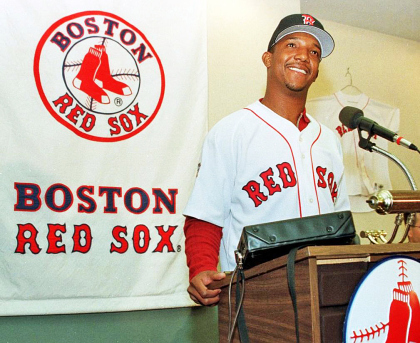 New Boston Red Sox ace pitcher Pedro Martinez resp